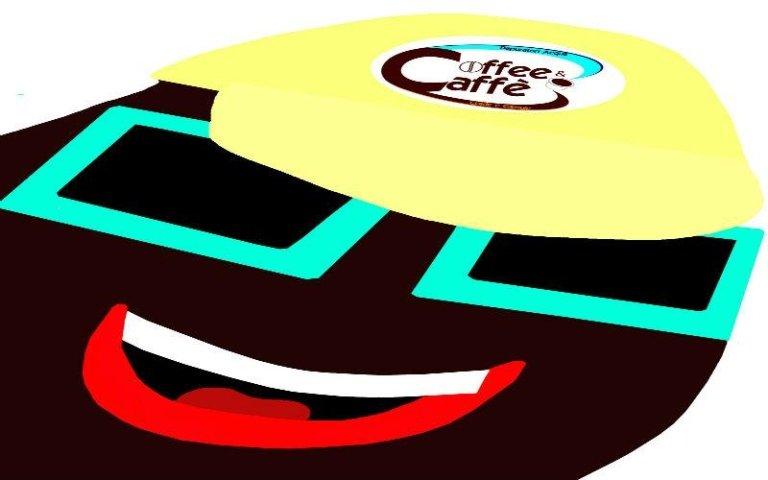 Mascotte chicco caffè