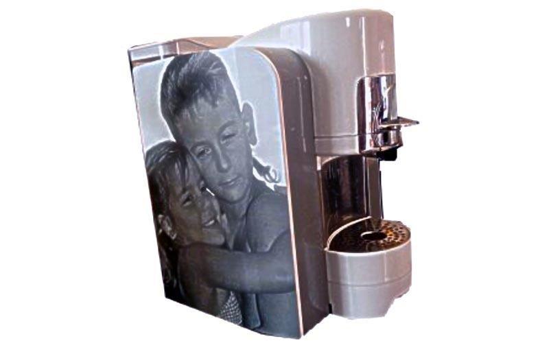 Macchina da caffè personalizzata con foto