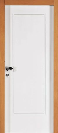 una porta bianca