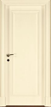 una porta in legno di color bianco