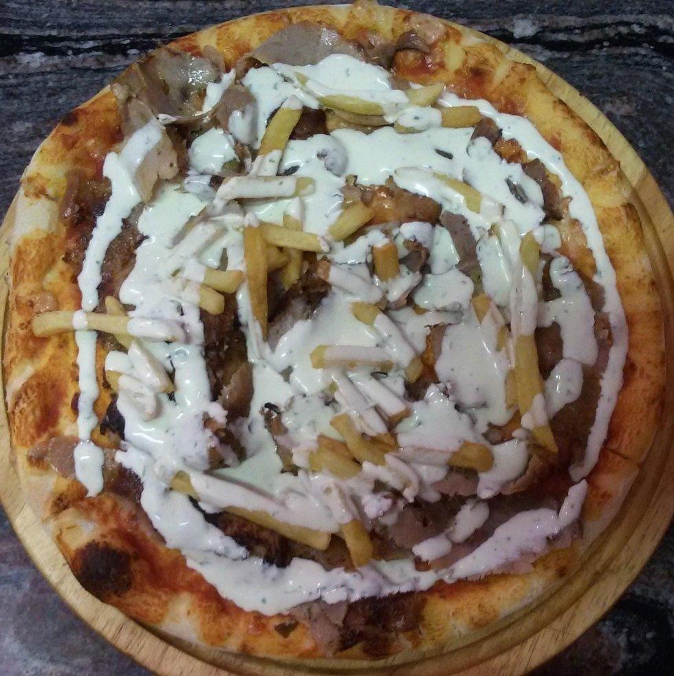 pizza kebab con patatine aosta
