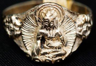 moulded gold ring