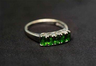 green jewel ring