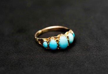 turquoise gem ring
