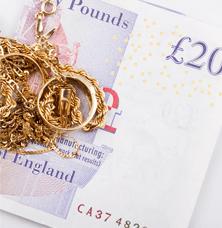 jewellery and twenty pound note