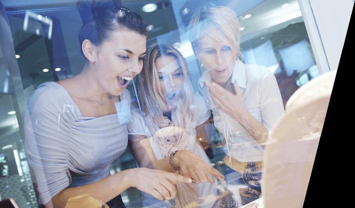 women looking at jewellery