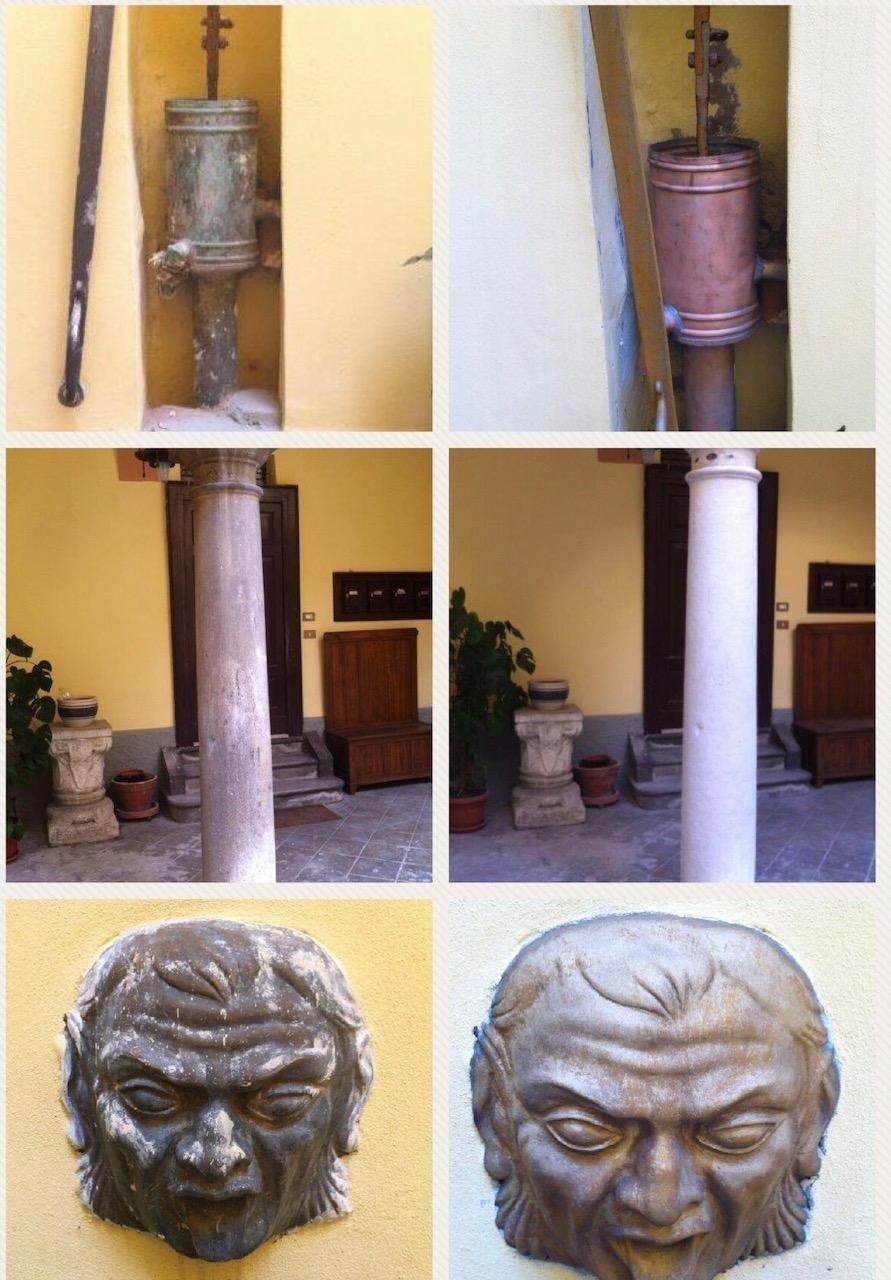 pulizia ripristino effigi storiche