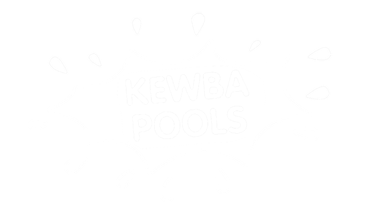 kewba pools maintenance and service business logo