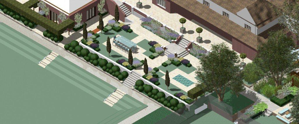 Large public garden design in South Kensington