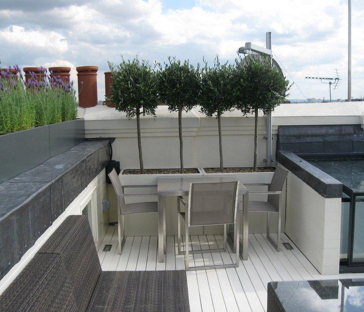 Roof terrace in South Kensington