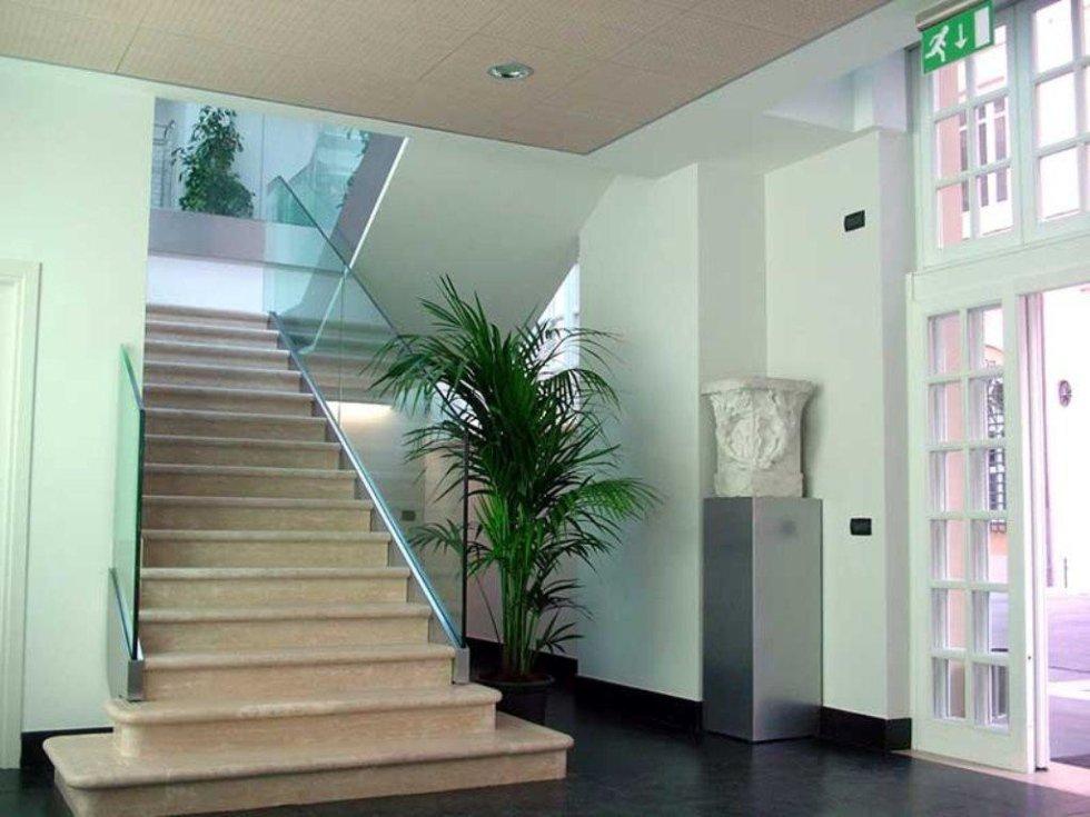 progettazione scala vetro e legno