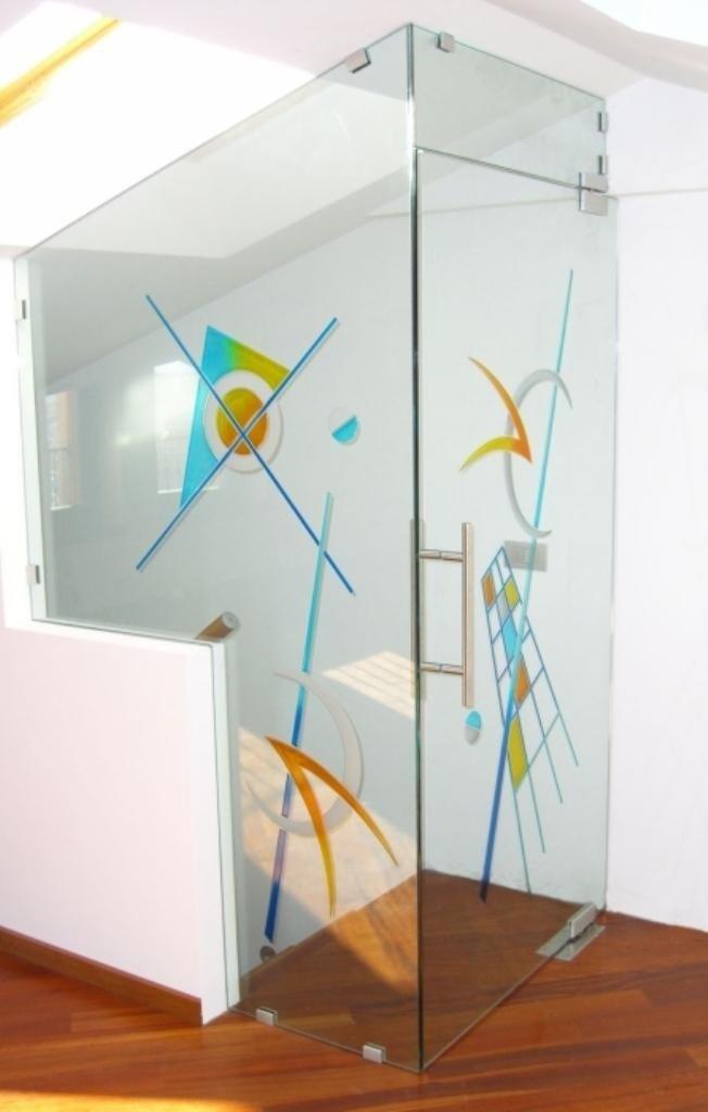 vetri decorati per uffici
