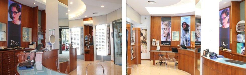 interno negozio ottica