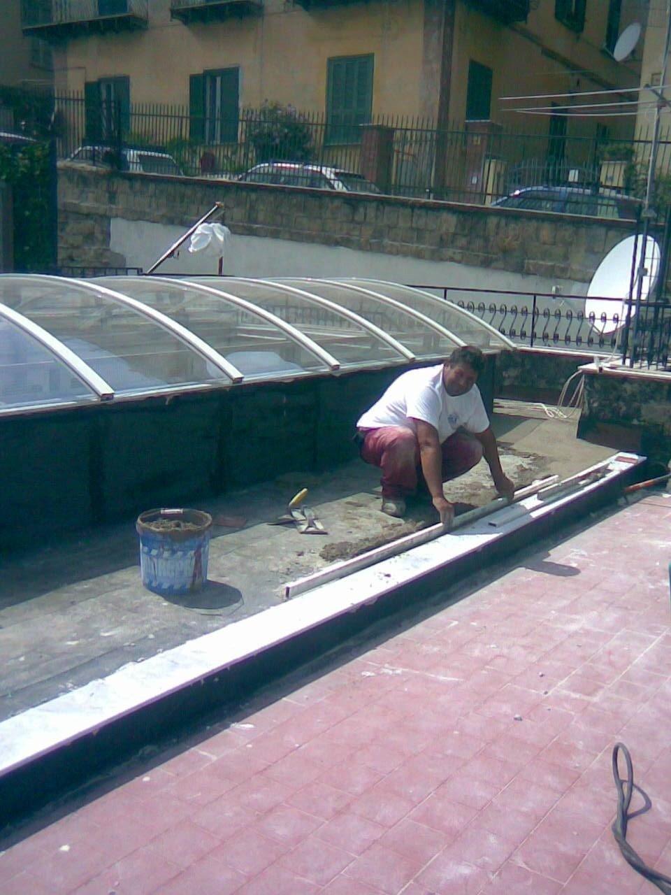 Lavoro di impermeabilizzazione e pavimentazione a Napoli Posillipo