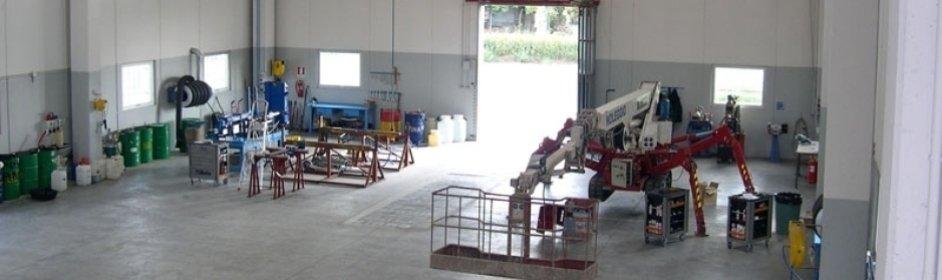manutenzione officina riparazioni piattaforme aeree scissors semovente