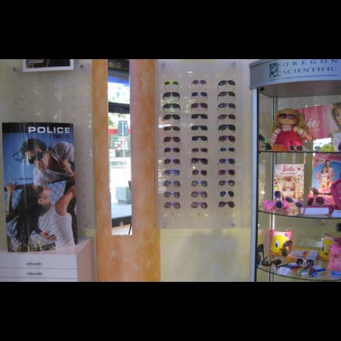 Parete espositiva occhiali
