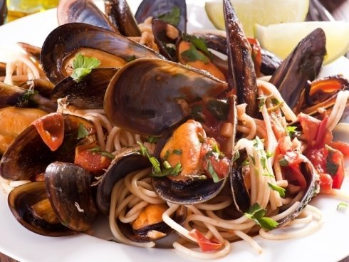 piatti di pasta e pesce