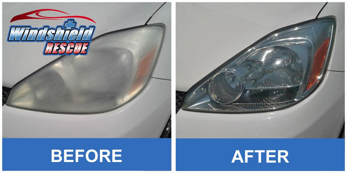 Before/After Headlight Restoration 4