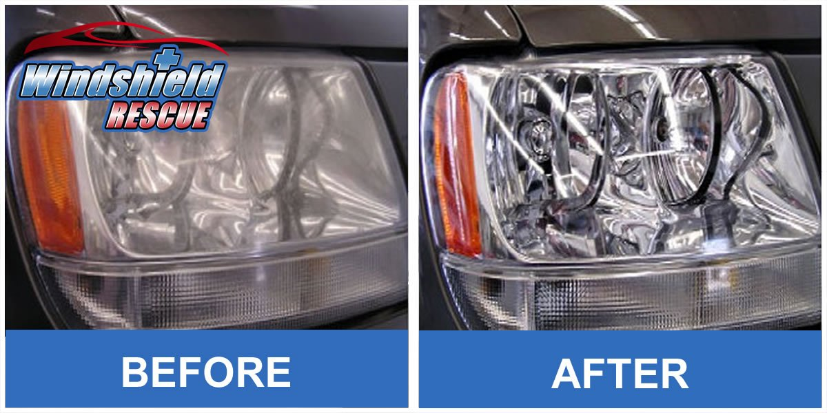 Before/After Headlight Restoration 2