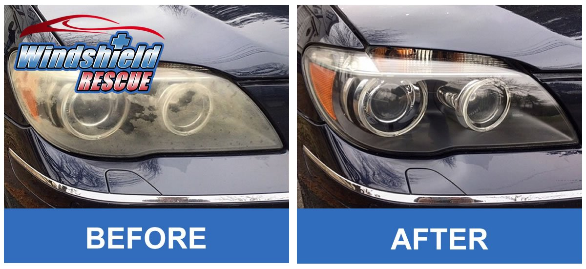 Before/After Headlight Restoration 1
