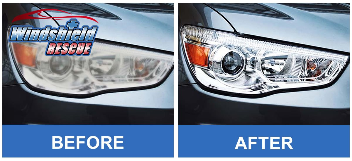 Before/After Headlight Restoration 3