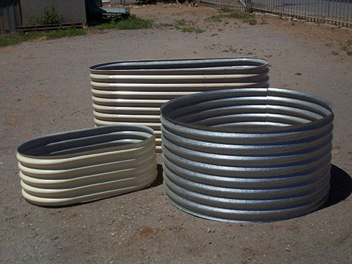 raw metal tanks in different shapes and sizes