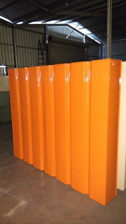 orange metal tank