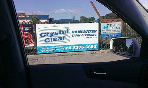 crystal clear rainwater tank cleaning