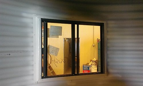 looking in custom fabricated window frame