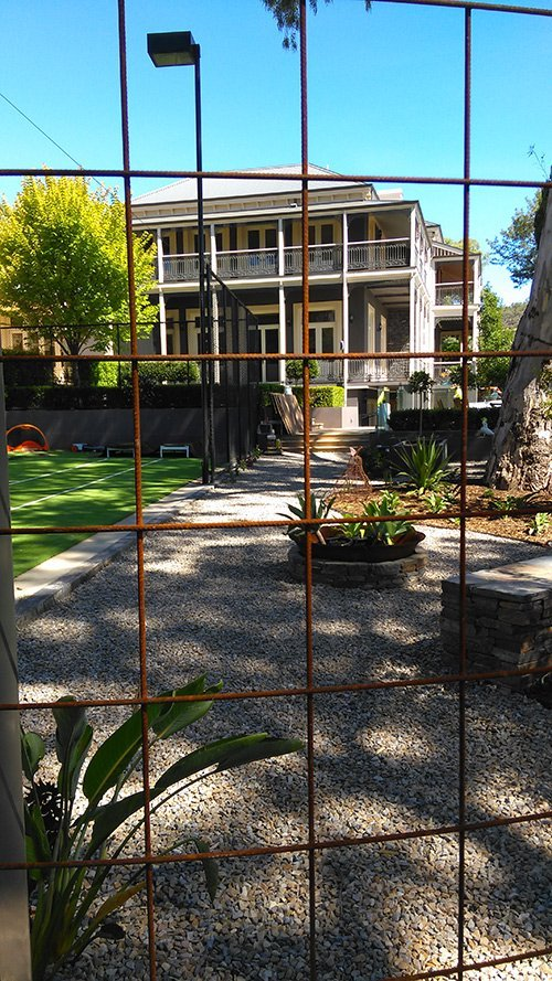 custom metal mesh fence