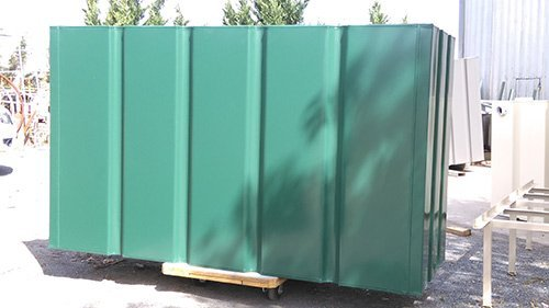 galvanised green container