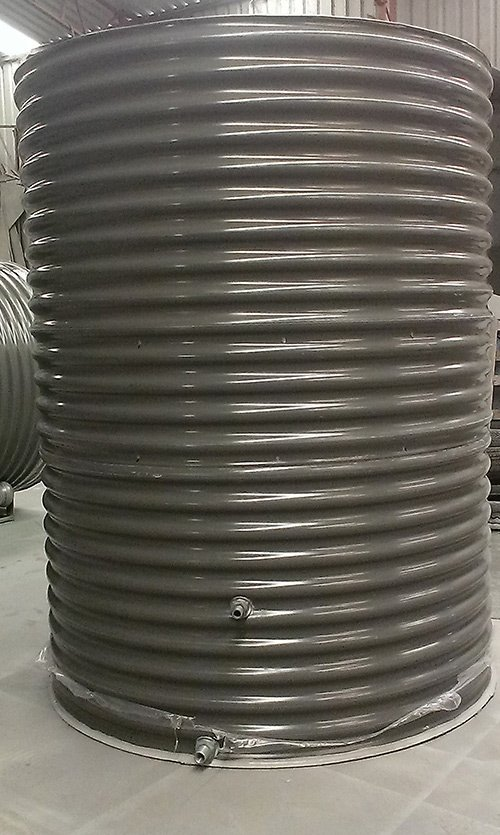 galvanised metal cylinder container