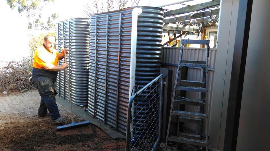 corrugated ultra slim tanks side by side