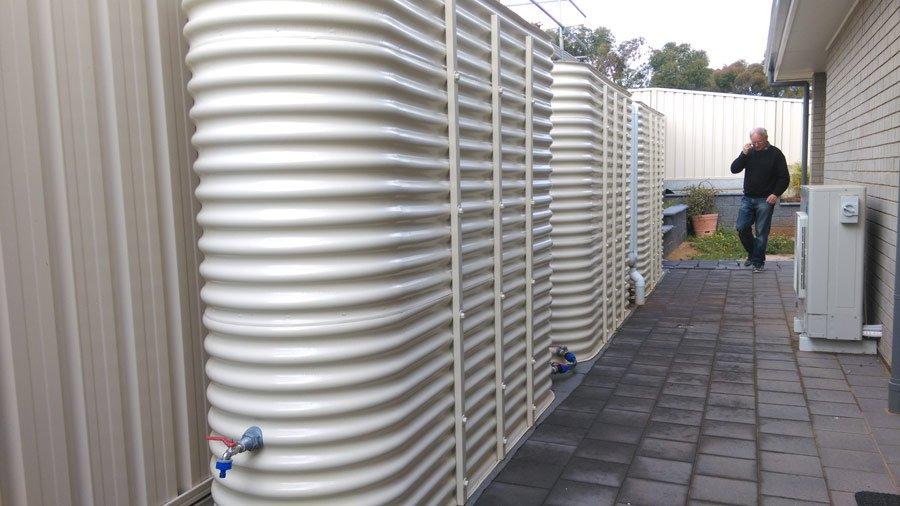 multiple corrugated ultra slim tanks