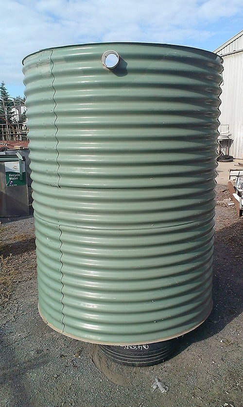 light green water tank