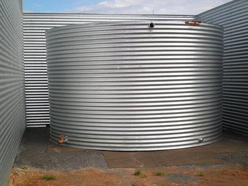 large circular water tank