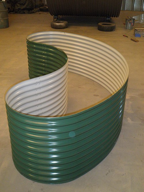 green water tank siding