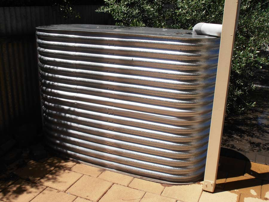 silver corrugated ultra slim tank