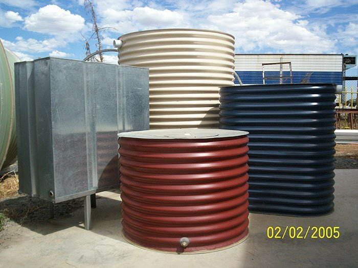 red water tank