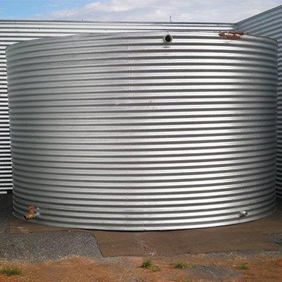 cylinder metal tank large