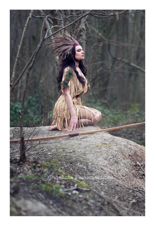 native american inspired boho 1920's flapper dress. Alternative wedding style