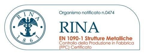 logo RINA 1861 Controllo Della produzione in Fabbrica (FPC) Certificato