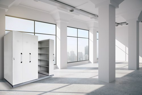 white office storage units
