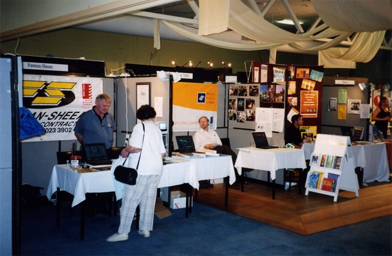 IT convention booth