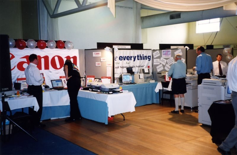 office everything convention booth