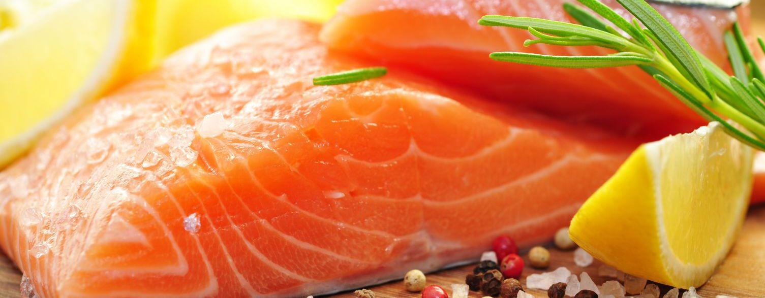 Fresh salmon in an Auckland kitchen