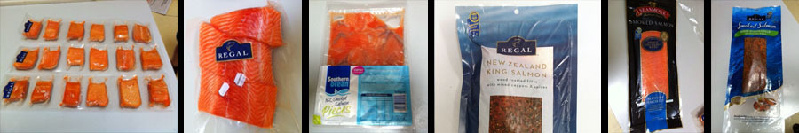 range of salmon products in our Auckland store