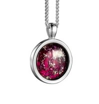 maroon tribute pendent