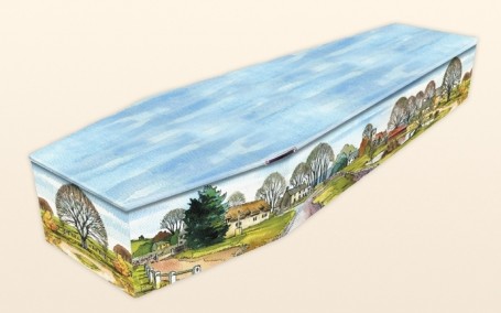 coffin with a painting
