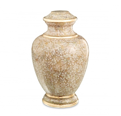 Cream color urn